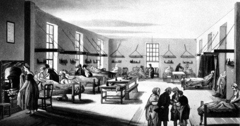 Krankenhaus in Middlesex, London, um 1800